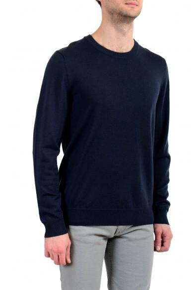 """Emporio Armani EA7 """"Ski"""" Men's 100% Wool Dark Blue Crewneck Sweater: Picture 2"""