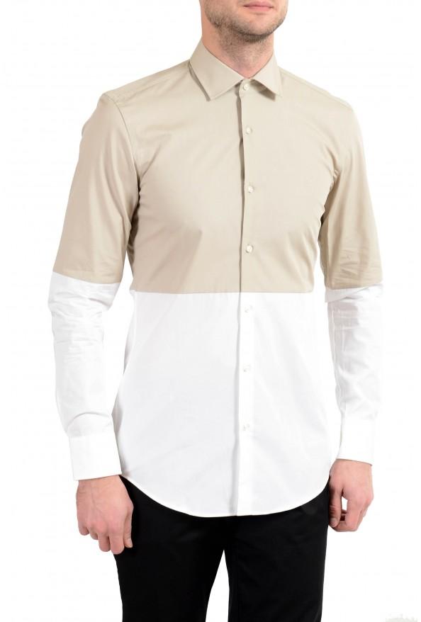 """Hugo Boss """"Jeven"""" Men's Slim Two Tones Long Sleeve Dress Shirt"""
