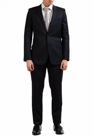 Saint Laurent Men's Charcoal Wool Silk Two Button Suit