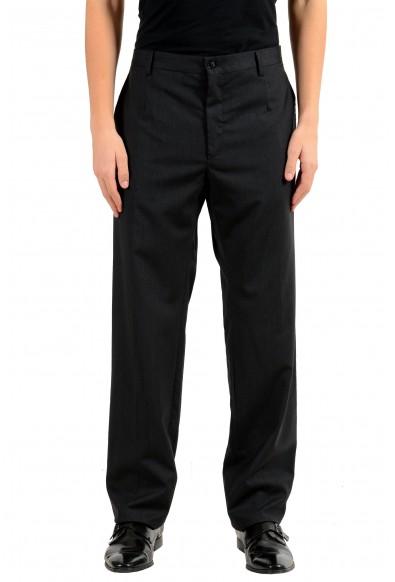 Dolce & Gabbana Men's Wool Charcoal Dress Pants