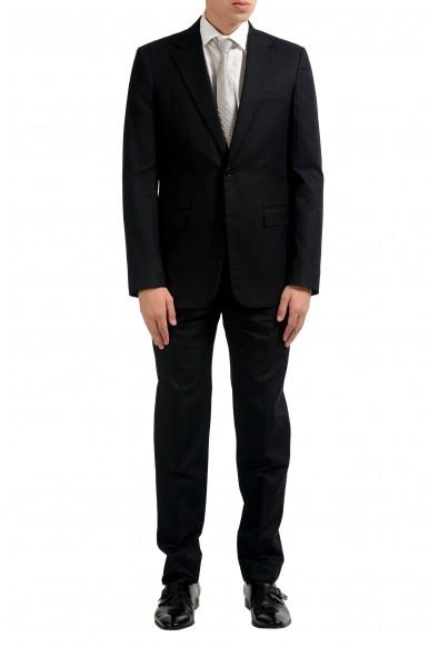 Maison Margiela 14 Men's Silk Black Two Button Suit