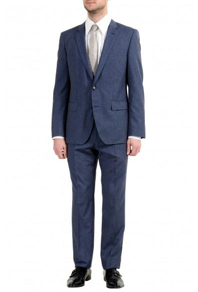 """Hugo Boss """"Huge6/Genius5"""" Men's Linen Silk Wool Slim Blue Two Button Suit"""
